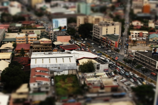 Just finished assembling my new toys. Kidding. This is Quezon Avenue in miniature filter.